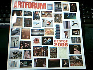Art Forum magazine December issue Best of 2006 cover