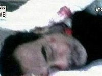 This video image released by the Biladi TV stations appears to show the body of Saddam Hussein.