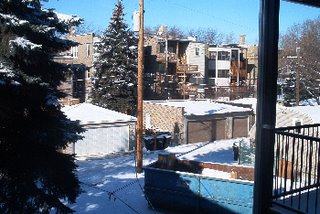 snowsnowsnow, view from my back balcony