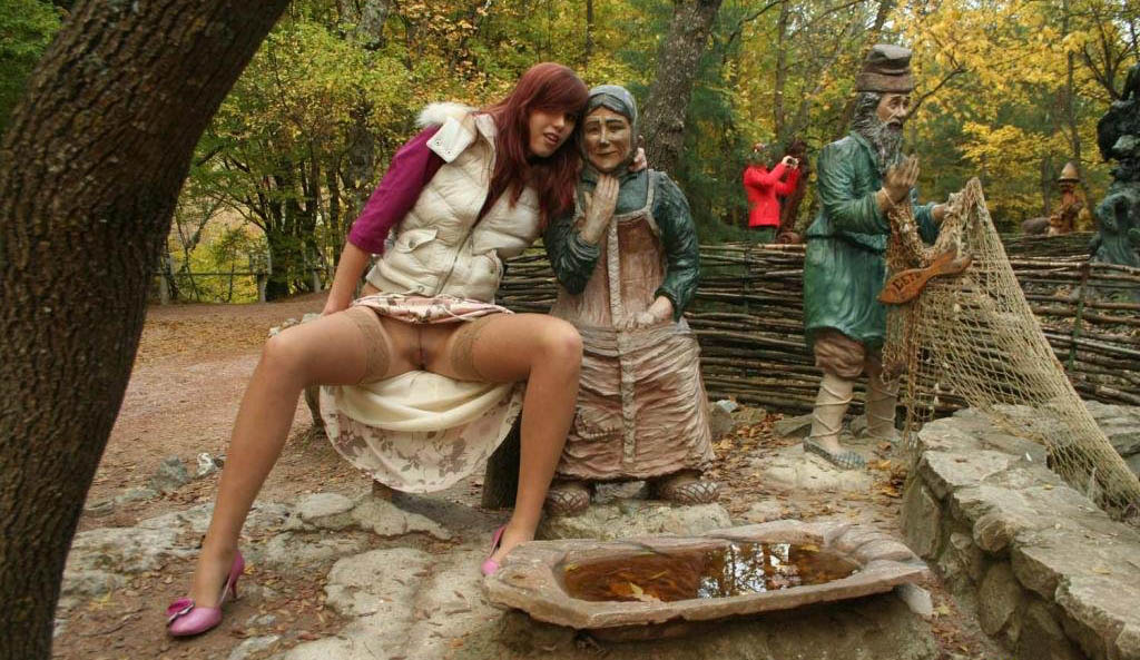 фото молодой жены в парке