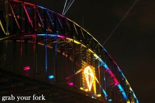 Sydney harbour bridge emerald rainbow