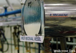 milk receival vessel