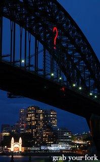 sydney harbour bridge question mark and luna park