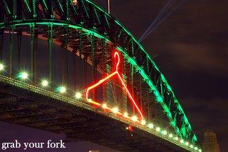 Sydney harbour bridge coathanger