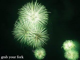 Sydney nye midnight fireworks green