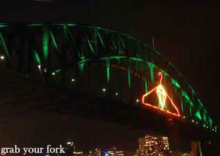 Sydney nye harbour bridge coathanger and emerald