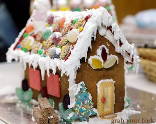 my gingerbread house front and right