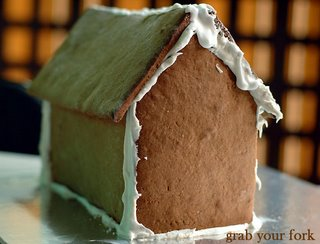 my gingerbread house unadorned
