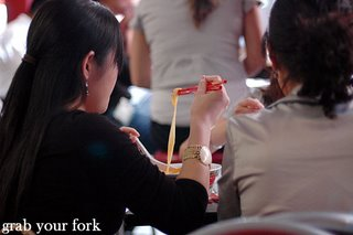 chopstick and noodles
