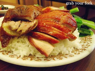 bbq pork and roast duck with rice