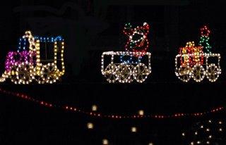 train christmas lights