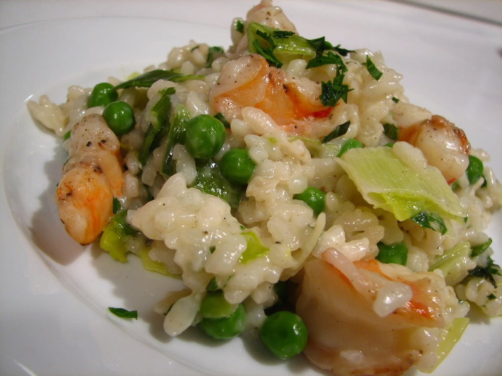and shrimp risotto with squid shrimp and curry leaves leek and shrimp ...
