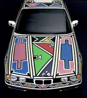 1991 BMW 525i Art Car by Esther Mahlangu 2