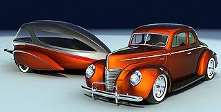 Retro Caravan Ford White 3