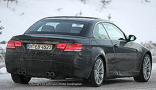 BMW M3 Cabrio E93 spy shots 2