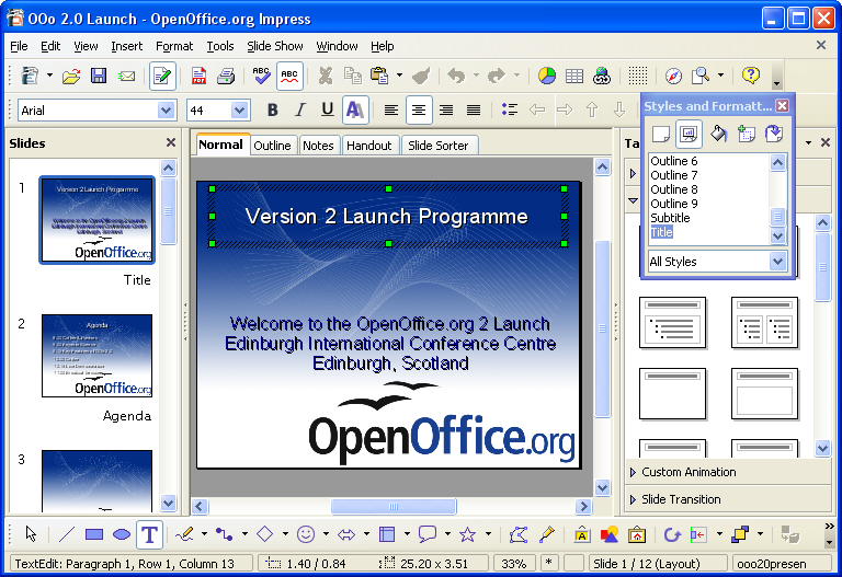 L 39 colien open office la suite bureautique compl te - Telecharger open office impress gratuitement ...