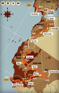 Dakar 2007 Haritası