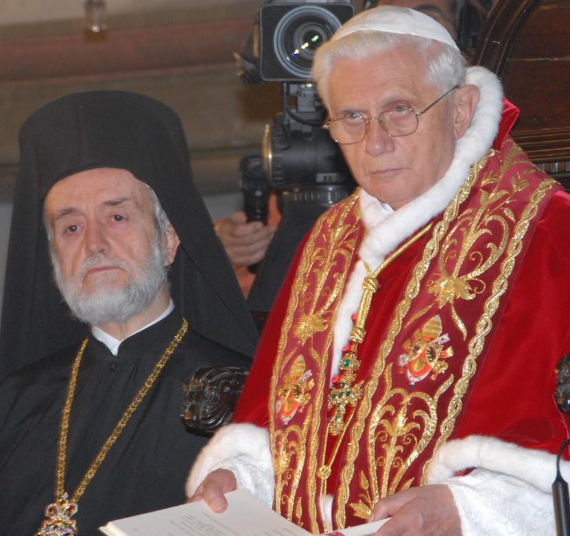 Pope Benedict and Metropolitan John Zizioulas