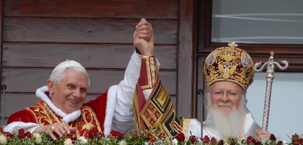 Pope Benedict and Patriarch Bartholomew