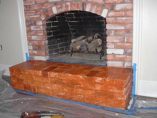 Faux Paint Red Brick Fireplace | Everything I Create - Paint ...