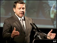 Speaking on US TV, Jordan's King Abdullah has warned that three civil wars could break out in the Middle East