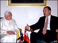 The Pope said Turkey was a religious bridge