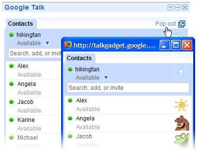 Google Talk Gadget