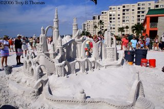 Sand Sculpture; Sand Castle; Fort Myers Beach, Florida; Photography by Troy Thomas