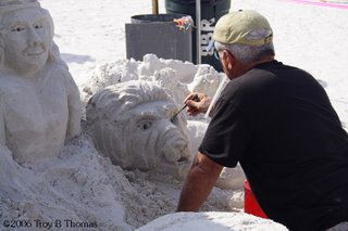 Sand sculpting competition on Fort Myers Beach, Florida; Photography by Troy Thomas