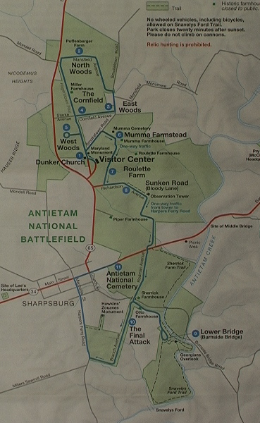 The 2003 Map Sees The Addition Of The Fields To The East Of The Sunken Road A Huge Tract Extending To Antietam Creek Just As The Pry House Acreage Now