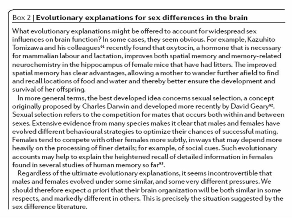 Lectura crítica en Neurociencias: Why sex matters for Neuroscience ...