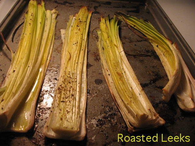 oven roasted leeks cookie sheet