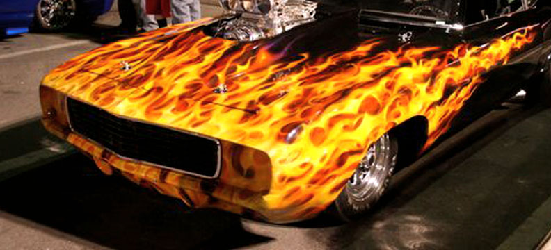 Just A Car Guy Best Flame Job In The Hot Rod World