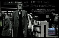 Kurt Vonnegut in an ad for the ACLU