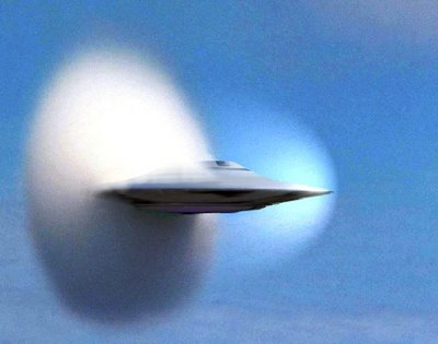 Flying Saucer Breaking Sound Barrier