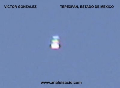 UFO OVER TEPEXPAN, MEXICO (A)