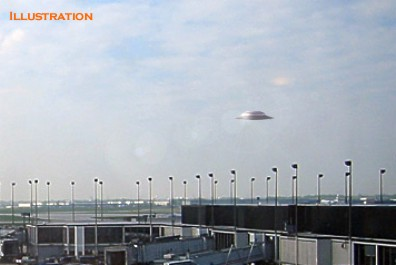 Flying Saucer Hovering Over Ohare