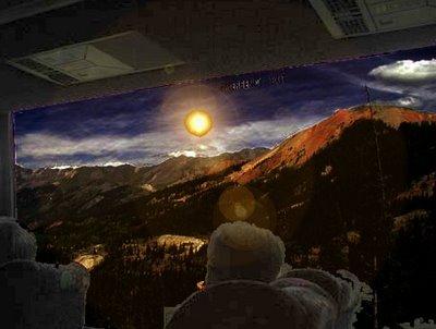 UFO Seen Through Bus Window (B)