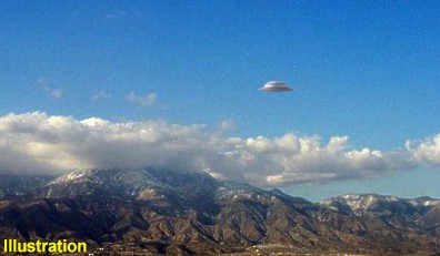 Flying Saucer Over Inland Valley