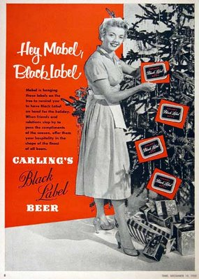 of course when you want crabs for christmasyalso went beer to go wiff itremember carling black label beer remember the hey mabel