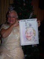 Caricatura Maria Tavares dos malucos do riso