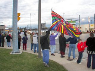 Toledoans protesting Iraq war
