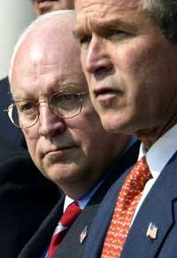 President Bush and Vice-President Dick Cheney