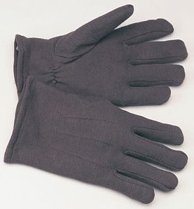 Cheap brown work gloves, guaranteed to be ignored by my children