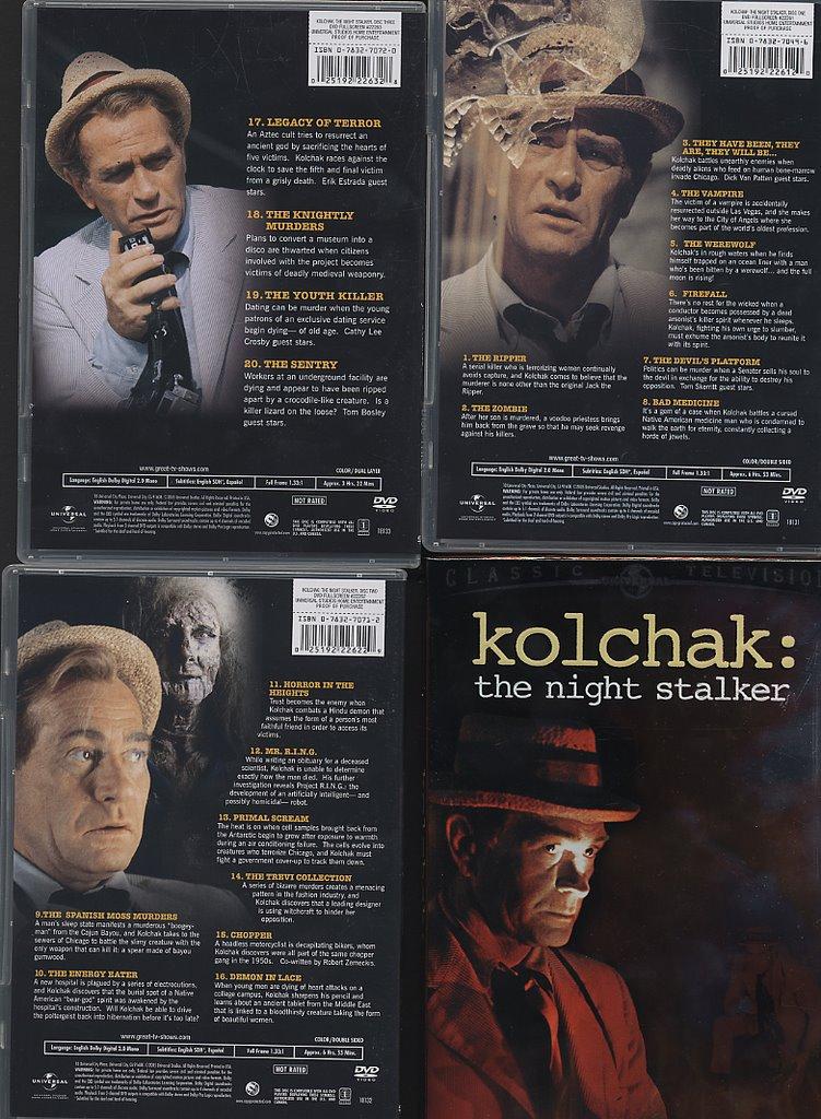 Night Stalker Dvd Dvd Review Kolchak The Night