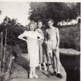 grandmother, mother and uncle