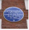 cetshwayo blue plaque