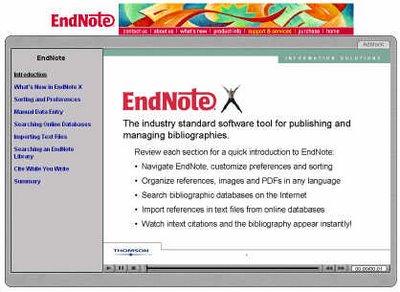 Endnote官方網站