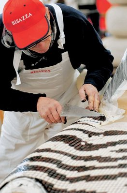 the making of mini cooper mosaic