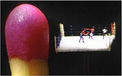figurine that smaller than matches - boxing character